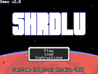 SHRDLU title screen